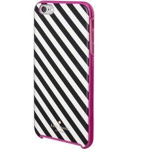 Kate Spade black white stripe iPhone case 8 7 6 6s